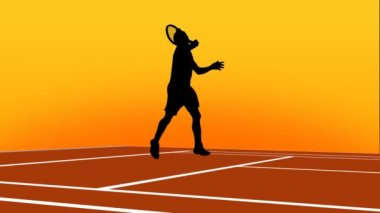 Tennis animation Pack 1. High quality vector animated scene of silhouette playing tennis. Сuitable for TV and WEB commercials and advertisements.