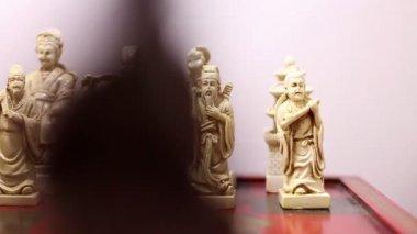 Chinesisches schach — Stockvideo