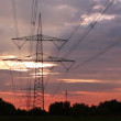 Stock Video: Electricity pylons