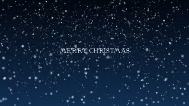 Background Animation of Marry Christmas and Happy New Year - blue — Stock Video