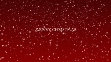 Background Animation of Marry Christmas and Happy New Year - red — Stock Video