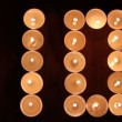Stock Video: Digits made of candles