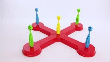 Anillo puntaje máximo resultado de un juguete de los niños — Vídeo de stock