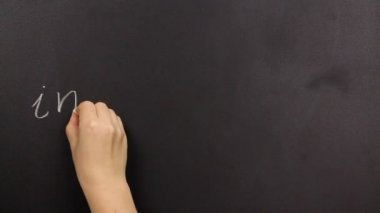 Positive thinking, writing possible on a blackboard — Stock Video