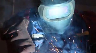 Heavy industry - welding — Stock Video