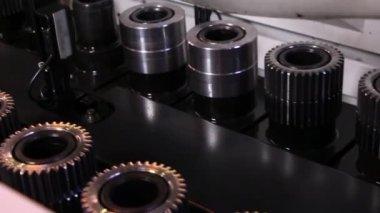 Heavy industry - industrial gear — Stock Video