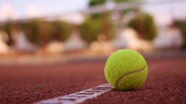 Tennis ball — Stock Video