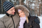 Para na tło zima — Zdjęcie stockowe