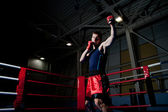 Man boxing in gym — Foto Stock