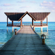 Jetty over the indian ocean — Stockfoto