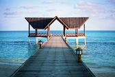 Jetty over the indian ocean — 图库照片