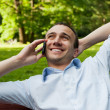 Man talking on the mobile phone — Stock Photo