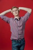 Young blond man — Stok fotoğraf