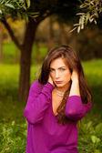 若くてきれいな女性の肖像画 — ストック写真