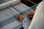 制作丝绸布 — 图库照片