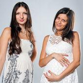 Two pregnant girls — Foto de Stock