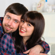 Couple portrait at home — Stock Photo