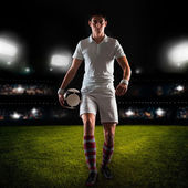 Young football player — Stock Photo