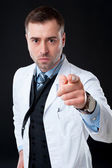Angry male doctor — Stock Photo