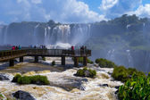 Awesome Iguazu Falls in Brazil — Stock Photo