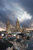 Truro cathedral at sunset — Fotografia Stock