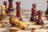 Chess king kapitulation — Stockfoto