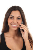 Teen girl talking on mobile phone — Stock Photo