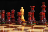 Spy bishop on the chessboard — Stock Photo