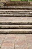 Staré kamenné schody — Stock fotografie