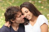 Man and woman couple flirting — Stock Photo