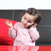 Casual baby on the phone — Stock Photo