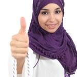 Arabian woman wearing a hijab with thumb up — Stock Photo #28653091