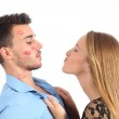 Woman trying to kiss a man desperately — Stock Photo #29659283