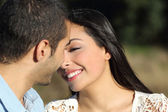 Arab casual couple flirting ready to kiss with love — Stock Photo
