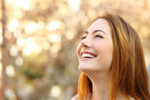 Portrait of a woman laughing with a perfect teeth — Stock Photo