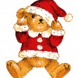 Santa Claus bear — Stock Photo