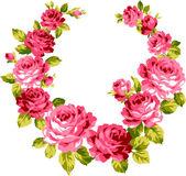 玫瑰胸花, — 图库矢量图片