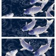 3 japan carp header, — Stock Photo