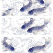 3 Japan fish header, — Stock fotografie