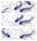 3 Japan fish header, — Stock Photo