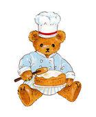Ο τεχνίτης κέικ της αρκούδας;; — Φωτογραφία Αρχείου