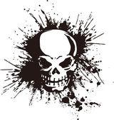 A splatter and the skull — Stock Vector