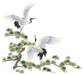 A Japanese crane — Stock Photo