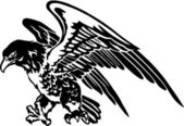 The illustration of the eagle — Vector de stock
