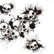 Постер, плакат: Splatter and the skull
