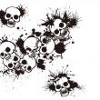 Постер, плакат: Splatter and the skull