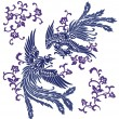 Royalty-Free Stock Imagen vectorial: Oriental phoenix,