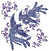 Oriental phoenix, — Stock Vector