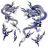 Un drago di japanesque — Foto Stock