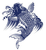 Japanese carp — Vetor de Stock